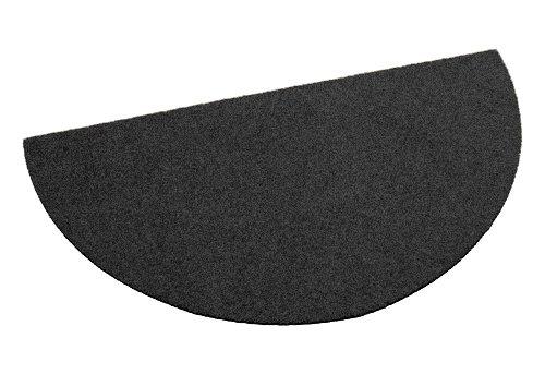 Deko-Matten-Shop Fußmatte Classic, Schmutzfangmatte, halbrund, 40x80 cm, schwarz, in 10 Größen und 11 Farben