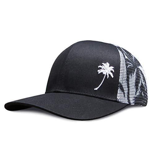 Grace Folly Trucker Hat for Men or Women- Many Cool Designs (Palm Tree- Mesh Print)