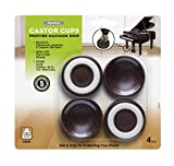 Slipstick CB605 Furniture Wheel Caster Cups / Floor Protectors with Non Skid Rubber Grip (Set of 4 Grippers) 1-3/4 Inch - Chocolate Brown,Small