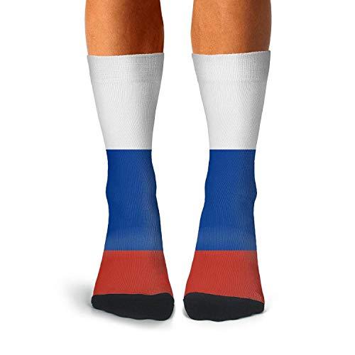 Funny Funky Socks Men's Russian Flag Novelty Casual Crew Socks