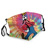 Goofy Tie Dye 2 Layer Face Cloth Mask with Filter Pocket, Reusable Cotton Washable Fabric Breathable Face Covering for Kids and Adults_ Goofy Tie Dye