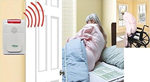 Wireless Bed exit Alarm with Long Term Bed and Chair Pads and Pager (no...