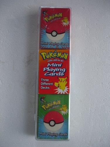 Pokemon Gotta Catch 'em all Mini Playing Cards 3 decks