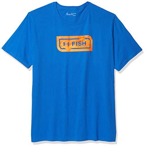 Under Armour Men's Camo Fill T-Shirt, Versa Blue (486)/Ultra Orange, X-Large