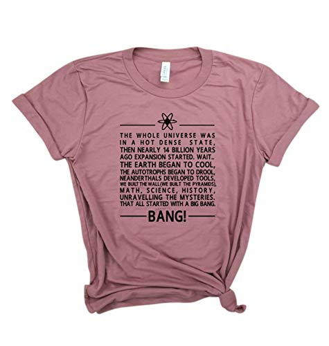 Big B a n g Theory theme song - Bazinga, Sheldon Cooper, Leonard, Science shirt, nerdy shirt.