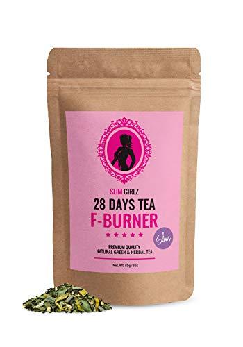 Slim Girlz Slim Tea 28 Giorni | Brucia Grassi | Per Le Donne | 85g Foglie Sciolte | Slim Tea Per Perdita Di Peso | Dtx Tea | Dieta & Brucia Grassi | Tè Purificante| Integratore Alimentare Naturale