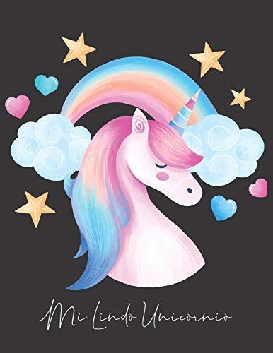 mi lindo unicornio: cuaderno de unicornio acuarela (libro de composición) con reglas anchas para niñas, niños, primaria, maestro, maestro, útiles escolares, diario, 8.5 in x 11 in, 150 páginas
