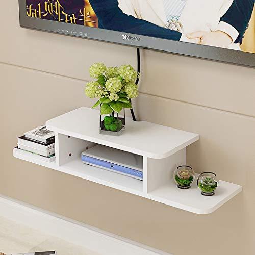 Gabinete de TV, TV flotante Montado en la pared Centro de entretenimiento Montado en la pared Consola de medios Estante de televisión de madera para cajas de cable / enrutadores / reproductores de DVD