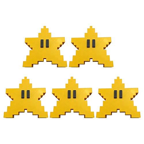 Boylee Pixel Star Christmas Tree Topper 3D Star Shape Decorative Topper Decoration for Christmas Tree Pixel Star Christmas Tree Topper 3D Star Shape Decorative Topper Decor for Christmas Tree