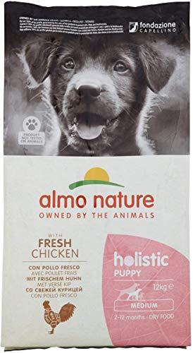 almo nature Holistic Dog Puppy Medium mangime Secco Gusto Pollo e Riso kg.12