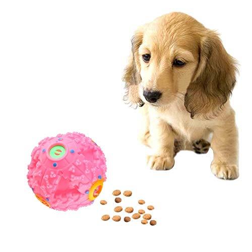 WEIHONG Jouet for Distributeur de Nourriture for Animaux de Compagnie Squeaky Giggle Quack Sound Dressing Ball Toy à mâcher, Taille: M, Diamètre de la Balle: 9,2 cm (Rose)