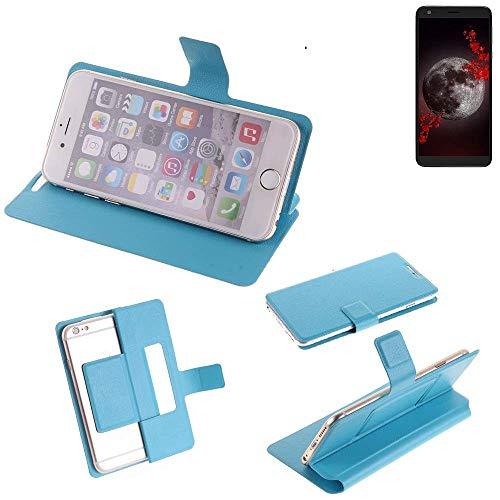 K-S-Trade® Flipcover Für Sharp Aquos B10 Schutz Hülle Schutzhülle Flip Cover Handy Case Smartphone Handyhülle Blau