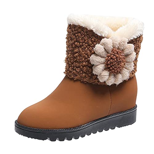 Xiand Winterschuhe Stiefeletten Schneestiefel Damen Winter Warm Gefüttert Outdoor Sneaker Sportschuhe Wasserdicht Trekkingstiefel Wanderstiefel Trekkingschuhe Wanderhalbschuhe Walkingschuhe