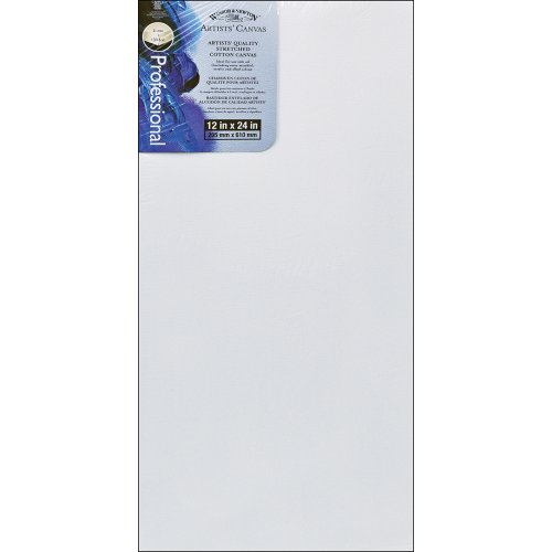 Winsor & Newton Artists' Stretched Canvas Cotton 12 x 24 Inches (6005126)