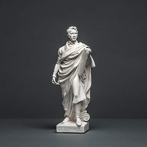 Karl Friedrich Schinkel, Skulptur aus hochwertigem Zellan, echte Handarbeit Made in Germany, Büste in weiß, 27cm
