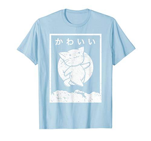 Kawaii Cat Shirt. Retro Style Anime T-Shirt