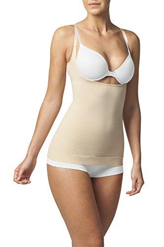 SLEEX Shapewear Figurformendes Damen Unterhemd - Underbust (Tragen Sie Ihren BH) (44044), Hautfarben, Groesse M/L