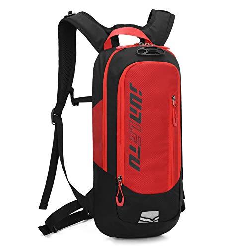Mochila impermeable de 10 L para bicicleta de los hombres y las mujeres de MTB bicicleta de montaña bolsa de agua de nylon ciclismo senderismo camping correr mochila de hidratación roja