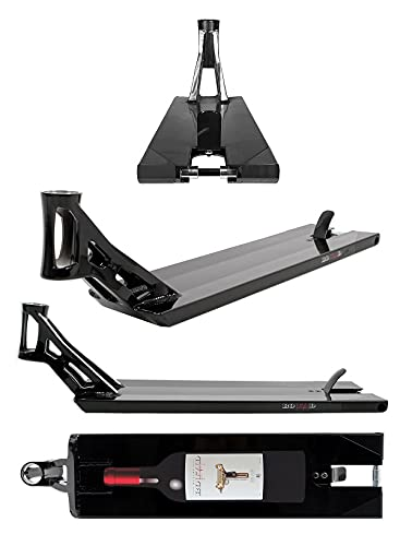 AO Stunt Scooter Bouzid Signature V2 Street Deck - Patinete (16,25 x 22,5 cm), color negro