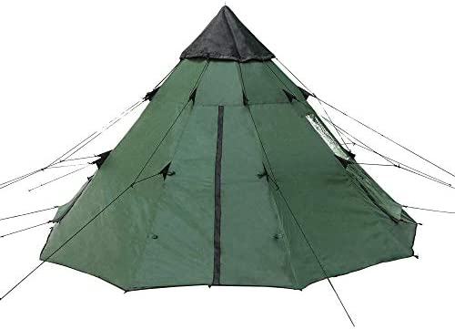 BaiYouDa 3 4 Person Family Camping Teepee Tent Outdoor Rainproof Waterproof Suitable for Camping product image