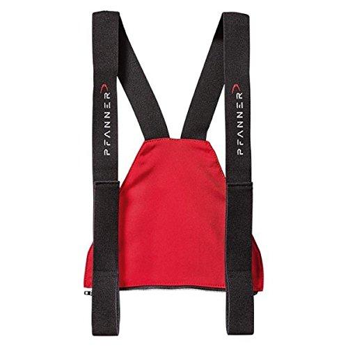 Pfanner Zip-Latz für Schnittschutzhosen mit Nierenschutz, Farbe:rot, Größe:1