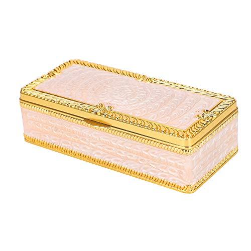 Huidige doos, retro universele sieraden ketting accessoires verpakking, juwelendoos schatkist voor Moederdag cadeau, geschenkdoos geschenkdoos met zinklegering, schatkist voor huisdecoratie