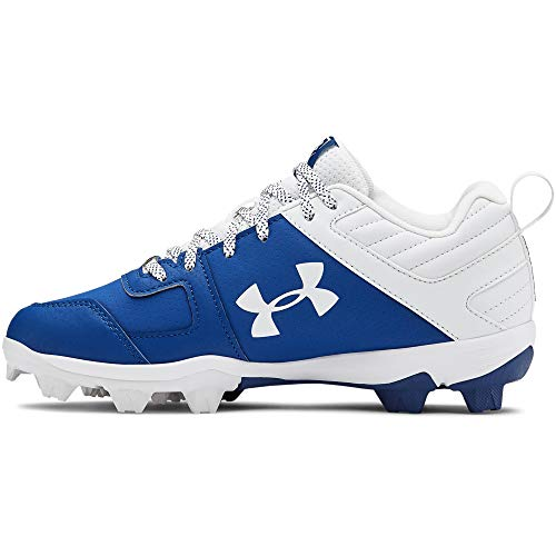 Under Armour Boys' Leadoff Low RM Jr. Baseball Shoe, Royal (400)/White, 6 Big Kid(8-12 Years)