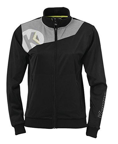 Kempa Damen Core 2.0 Poly Jacke, schwarz(schwarz/dark grau melange), M