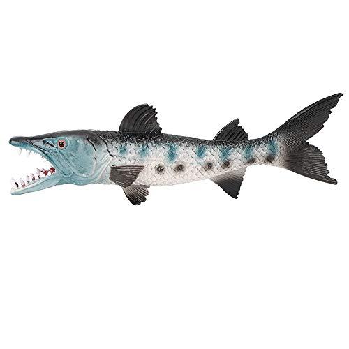 Fish Model, Lifelike Artificial Fake Fish Model Marine Wolffish Model Figure Ornaments Kids Pretend Play Prop(M-1335)
