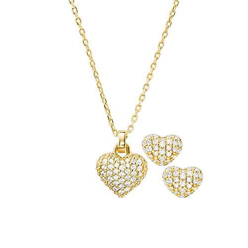 Michael Kors Damen-Schmuck-Set Set 925er Silber One Size Gold 32011994