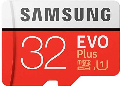 Samsung EVO Plus 32GB microSD SDHC UHS-1 Class 10 Speicherkarte 32GB microSD Karte 95MB/S 32GB MicroSDHC Speichererweiterung für Smartphone oder Tablet inkl. SD Adapter und Schutzhülle NEU&OVP