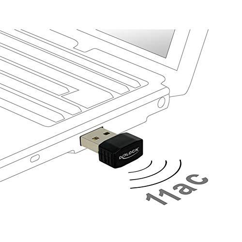 Delock WLAN Stick USB2.0 2dBi Nano Dongle 2,4+5 GHz