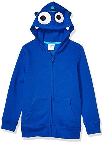 Spotted Zebra Fleece Zip-Up Hoodies Hooded Sweatshirt, Blue Monster, 4T