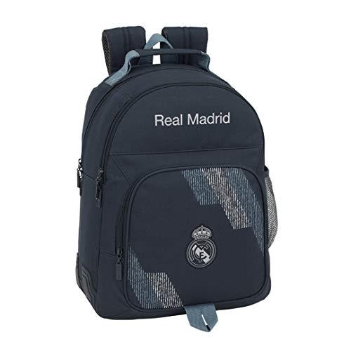Safta Real Madrid 2 Mochila Tipo Casual 42 cm, 1 litro, Azul
