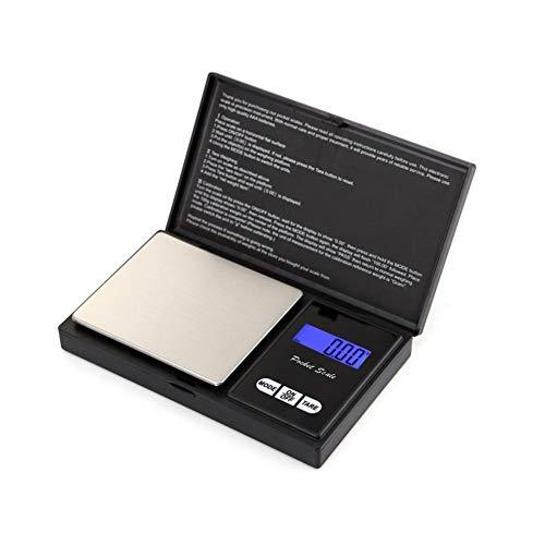 Mazhar Mini balanzas electrónicas Precisión Libra Joyas Báscula Báscula portátil Palm Balance Báscula Digital Máquina de pesaje - Negro 100g / 0.01g