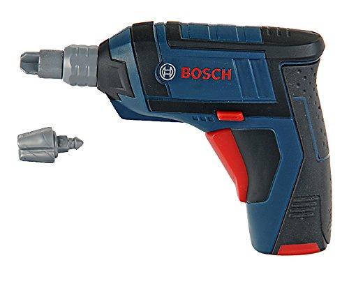 Theo Klein 8251 - Bosch Akkuschrauber Ixo batteriebetrieben, profiline blau, Spielzeug