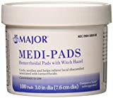 Medi-Pads Maximum Strength With Witch Hazel Hemorrhoidal Hygienic Cleansing Pads 100 Ct per Jar Compare to Tucks Pads
