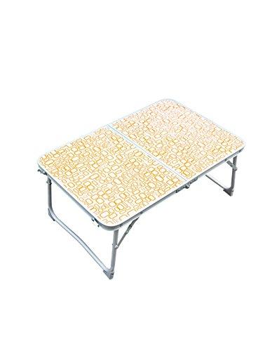 Extérieur de Camping Multi-Fonctionnel Pique-Nique Portable Table Pliante Ordinateur Portable Ordinateur d'apprentissage Bureau Vert et Orange (Couleur : B, Taille : L*W*H:64 * 42 * 29cm)