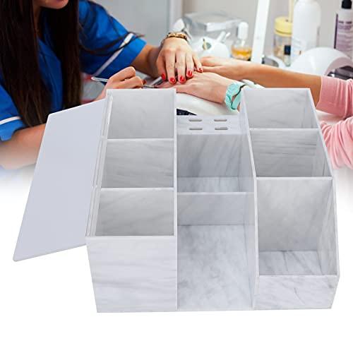 KAKAKE Caja de Almacenamiento de Maquillaje, Gran Espacio de Almacenamiento Cubierta a Prueba de Polvo Almacenamiento Separado Recipiente de exhibición de Maquillaje acrílico para el hogar para