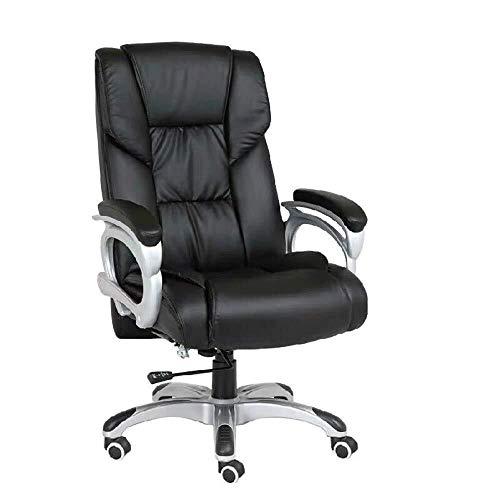 Bruin PU Lederen bureaustoel, Executive Computer Stoel Verstelbaar met Chrome Benen met Wielen en Lift voor Home Office