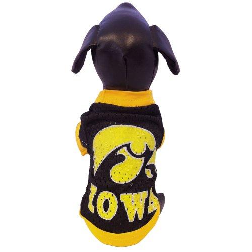 NCAA Iowa Hawkeyes Athletic Mesh Dog Jersey (Team Color, Small)