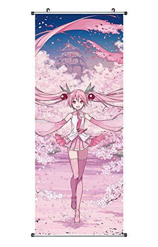 CoolChange Großes Vocaloid Rollbild | Kakemono aus Stoff | Poster 100x40cm | Motiv: Sakura Miku