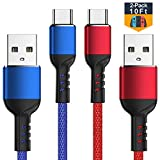 Charger Cable for Nintendo Switch - 2 Pack 10FT Nylon Braided USB C to USB A Type C Fast Charging Cord for...