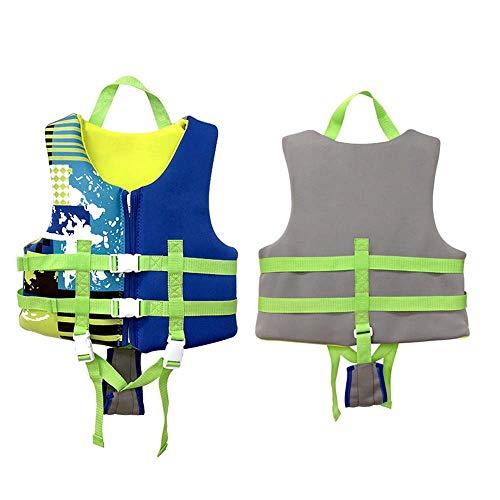 JYMEI Chaleco de natación Infantil Chaleco Profesional Chaleco cinturón Cruz cinturón protección Vida Chaleco Antes del Traje de baño,Azul,XL