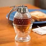 ZSQHD Dispensador de Miel Squeeze Bottle Jar Contenedor Bee Drip Dispensador Kettle Almacenamiento Pot Soporte Soporte Taza de Jugo Taza de Almacenamiento Jarabe
