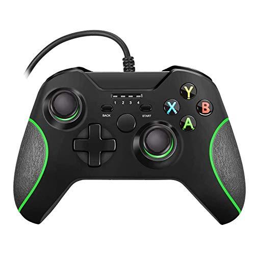 Xbox One Controller Wired,MOLICUI USB Gamepad for Microsoft Xbox One/Slim/PC,Black