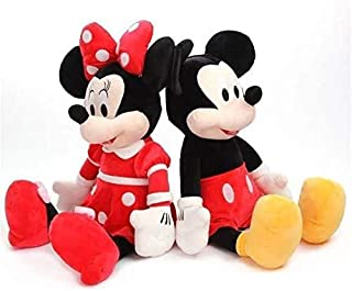 High Quality Stuffed Mickey & Minnie Mouse Plush Toy Dolls Birthday Gifts For Kids Baby Children (Mickey & Minnie Red, 14 ...
