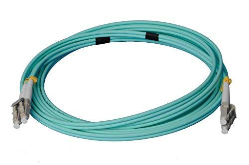 LWL Glasfaser-Kabel – 2m OM3 LC auf LC Stecker, Duplex 50/125 Patchkabel – Lichtwellenleiter 2 Meter