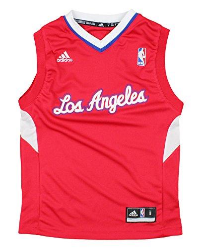 adidas Los Angeles Clippers NBA Youth Big Boys Logo Road Replica Jersey - Red (Medium (10/12))