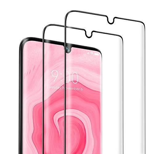 SAEYON [2 Stück] Panzerglas Schutzfolie für Xiaomi Mi Note 10/ Note 10 Pro/Note 10 Lite, 3D Curved Xiaomi Mi Note 10/ Note 10 Pro Panzerglasfolie Bildschirmschutzfolie, Anti-Kratzer, Blasenfrei, Schwarz